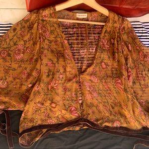 Silk SARAH JANE paisley with velvet front tie